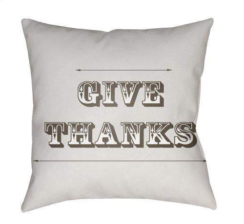 """Thanks GIV-001 18"""" x 18"""""""