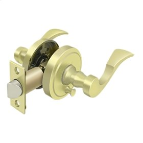 Lacovia Lever Privacy, Left Hand - Polished Brass