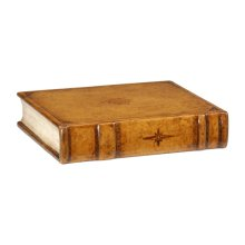 Faux Leather Book Box
