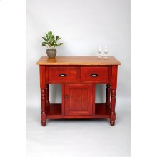 "#314S Small Harrisburg Kitchen Island 43""wx 22.5""dx37""h"