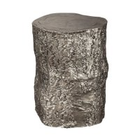 Antique Nickel Tree Trunk Stool Product Image