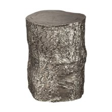 Antique Nickel Tree Trunk Stool