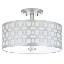 Cedar Linked 3 Light 15-inch Dia Silver Flush Mount - Silver