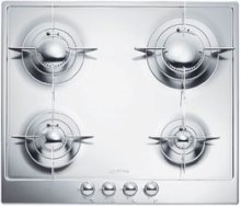 """60CM (approx 24"""") """"Piano Design"""" Gas Cooktop, Polished Stainless Steel*"""