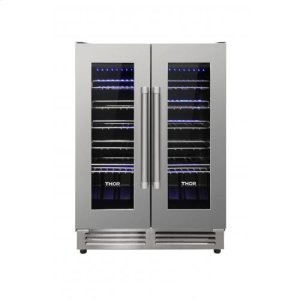 Thor 42 Bottle Dual Zone French Door Built-In Wine Cooler