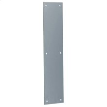 "Door Accessories  3"" x 12"" Push Plate - Satin Chrome"