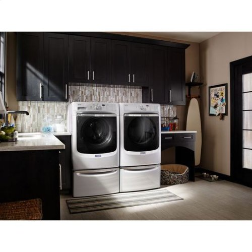 "Maytag® Large Capacity Gas Dryer with Refresh Cycle with Steam and PowerDry System "" 7.4 cu. ft. - White"