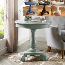 Constance Round End Table -aqua