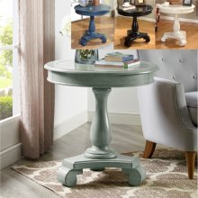 Constance Round End Table -aqua