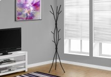 "COAT RACK - 74""H / HAMMERED BLACK METAL"