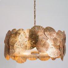 Lily Pad Pendant-Antique Brass