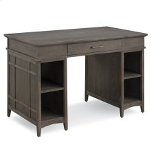Gray Washed Tower Desktop PC Pier Base Desk with Center Drawer #84402