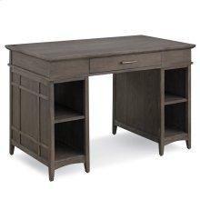 Gray Washed Tower Desktop PC Pier Base Desk with Center Drawer #84402