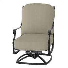 Grand Terrace Cushion High Back Swivel Rocking Lounge Chair