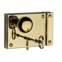 Lifetime Polished Brass 5702 Small Horizontal Rim Lock