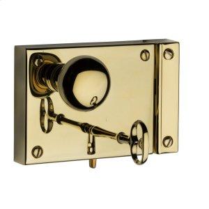Lifetime Polished Brass 5702 Small Horizontal Rim Lock Product Image