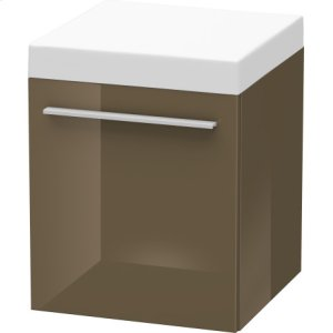 Mobile Storage Unit, Olive Brown High Gloss Lacquer