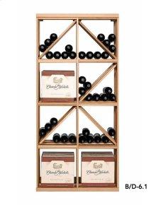 Apex 6' Case & Diamond Bin Modular Wine Rack