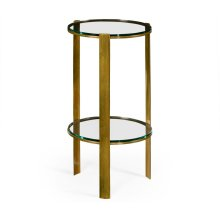 Brass & Glass Round Lamp Table
