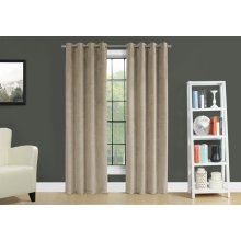 "CURTAIN PANEL - 2PCS / 52""W X 84""H BEIGE ROOM DARKENING"