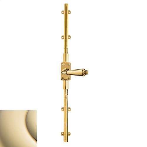 Lifetime Polished Brass Cremone Bolt