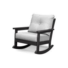 Black & Canvas Granite Vineyard Deep Seating Rocking Chair
