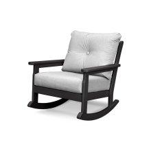 Black & Canvas Granite Vineyard Deep Seating Rocking Chair