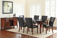 "Granite Bello Parsons Chair, Black, 21"" x 29"" x 39"""
