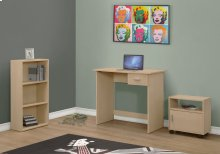 COMPUTER DESK - 3PCS SET / MAPLE DESK / BOOKCASE / CART