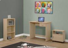 COMPUTER DESK - 3PCS SET / MAPLE DESK / BOOKCASE / CART