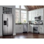 Samsung Appliances 25 cu. ft. Side-by-Side Refrigerator with LED Lighting in Stainless Steel