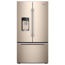 Whirlpool® 36-inch Wide Smart Contemporary Handle Counter Depth French Door-within-Door Refrigerator - 24 cu. ft. - Print Resist Sunset Bronze