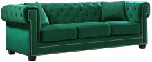 """Bowery Velvet Sofa - 90"""" W x 36.5"""" D x 30.5"""" H"""
