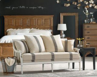 Parlor Settee In Farmhouse Bedroom Setting