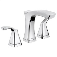Chrome Two Handle Widespread Lavatory Faucet - Metal Pop-Up