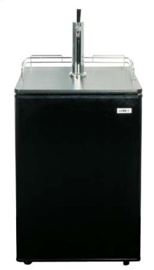 Full-sized auto defrost beer dispenser for freestanding home use; sold without tap kit for do-it-yourselfers who install their own custom systems