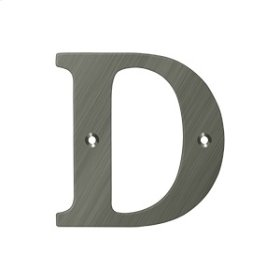 "4"" Residential Letter D - Antique Nickel"