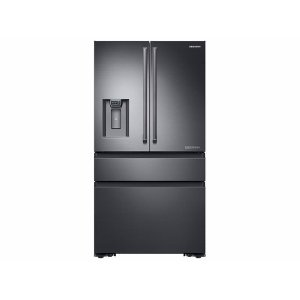 SAMSUNG23 cu. ft. Counter Depth 4-Door French Door Freestanding Chef Collection Refrigerator in Matte Black Stainless Steel