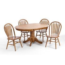 Dining - Classic Oak Chestnut Pedestal Table Product Image