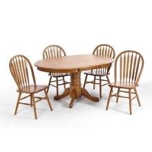Dining - Classic Oak Chestnut Pedestal Table