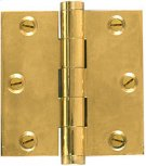 Solid Brass- Extruded Hinge-Sq. Corner-For finials Product Image