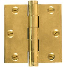 Solid Brass- Extruded Hinge-Sq. Corner-For finials
