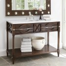 Spindle Sink Chest - Walnut Product Image