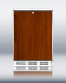 Commercially Approved Solid Door Wine Cellar for Freestanding Use, With Stainless Steel Door Frame for Slide-in Panels, White Cabinet, and Front Lock