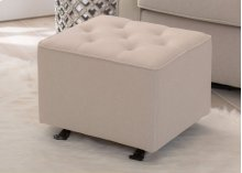 Emma Diamond Tufted Nursery Gliding Ottoman - Flax (710)