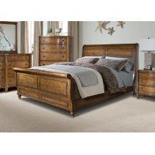 Cape Cod Hanover Sleigh Bed 6/6 King