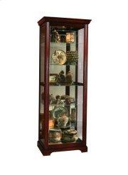 Sliding Door 5 Shelf Curio Cabinet in Victorian Brown Product Image