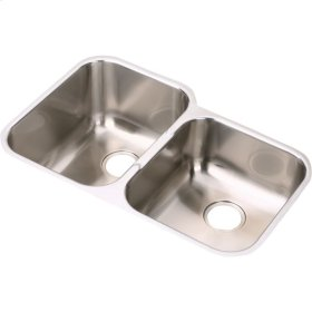 """Elkay Stainless Steel 31-1/4"""" x 20-1/2"""" x 8"""", Offset Double Bowl Undermount Sink"""