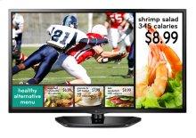 "32"" class (31.5"" measured diagonally) The LG EzSign TV LED Commercial Widescreen"
