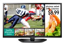 "32"" class (31.5"" measured diagonally) The LG EzSign TV LED Commercial Widescreen"